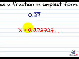 copy of converting repeating decimals to fractions lessons tes