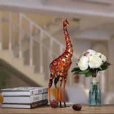 handicrafts for home decoration vintage iron braided giraffe figurine handcraft home decoration