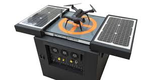 the dronebox is a solar powered charging station for drones