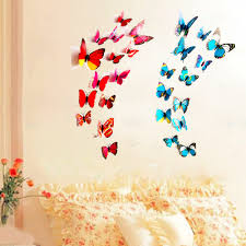 compare prices on small butterfly wall sticker online shopping new hot 6 big and 6 small 3d butterfly wall stickers butterflies decors for home fridge