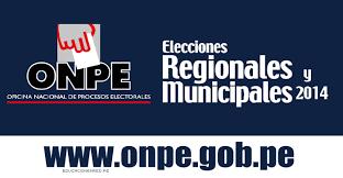 Resultados Oficiales de la ONPE de la Elecciones 2014