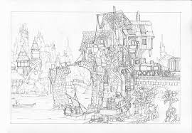 tumbletown pencil sketch by mikedoscher on deviantart