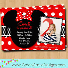 free customized minnie mouse birthday invitations template