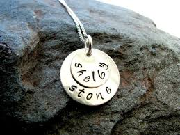 sterling silver handmade necklace images Double sterling silver personalized necklace jpg
