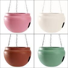 home garden hanging baskets plastic flower planter pot self