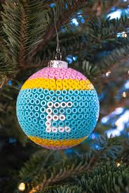 decorate glass ornaments with perler