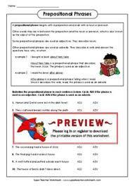 prepositional phrases super teacher worksheets by lillian pluta