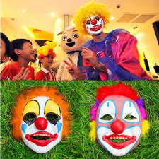 clown show for birthday party men clown decorations masks wig party masks