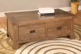 rustic oak coffee table top brooklyn rustic oak 2 drawer coffee table furniture solutions