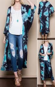 cardigan kimono tie dye kimono cardigan aqua