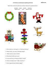 christmas vocabulary speaking exercise eslflow