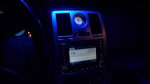 300c blue interior led lights youtube