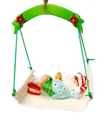 Amazon Com Outdoor Christmas Decorations by Amazon Com Christmas Ornament Santa In Hammock With Flip Flops