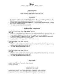 resume job objectives chronological resume template cv resume ideas