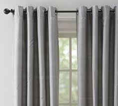 Light Grey Blackout Curtains Blackout Curtains Pottery Barn