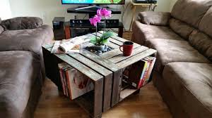 Coffee Table Out Of Pallets by Pallet Wooden Coffee Table With Planter Pallet Ideas Recycled