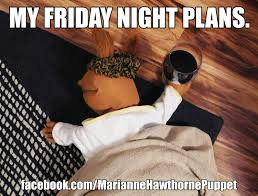 Friday Night Meme - my friday night plans wine meme funny comedy single lonely no life