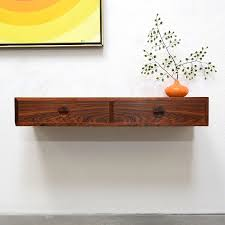 mid century entry table danish modern rosewood floating entry console table credenza shelf