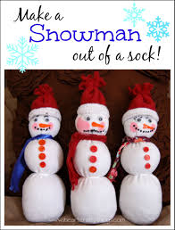 make a snowman out of your child u0027s sock i heart crafty things