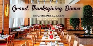 grand thanksgiving dinner sheraton grand at sheraton grand