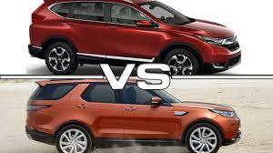 honda cr v vs lexus 2017 honda cr v vs 2017 land rover discovery youtube