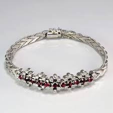 chain bracelet with diamonds images Beautiful diamond ruby woven chain bracelet 1 08 ctw 8 JPG