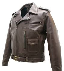 textile motorcycle jacket brown d pocket horsehide motorcycle jacket by hillside usa leather