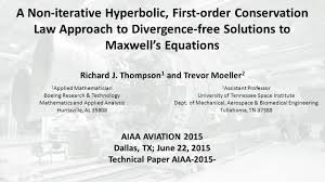 a non iterative hyperbolic first order conservation law approach
