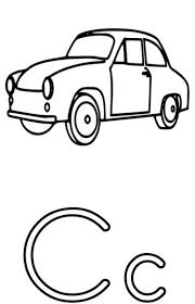 the letter c coloring page for kids free printable picture 23467