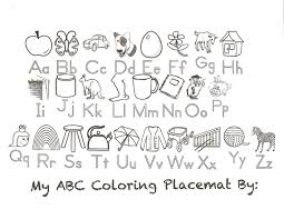 abc coloring placemat preschool pinterest placemat