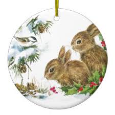 vintage rabbit ornaments keepsake ornaments zazzle