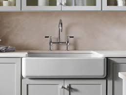 Cast Iron Farmhouse Kitchen Sinks by Kohler Whitehaven Series Sinks Splash Galleries