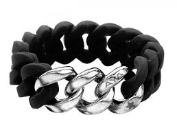 metal silicone bracelet images Silix black and silver silicone bracelet aya jewelry jpg