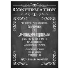 confirmation invitation confirmation invitation chalkboard flourishes cross