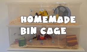 Homemade Toy Box by How To Make A Homemade Hamster Bin Cage Youtube