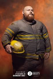 league against obesity print advert by latinworks fireman ads