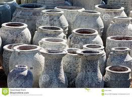 large ceramic garden pots stock photo image 63973808