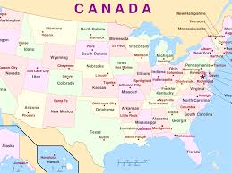 canadian map and capitals us states and capitals map list of us states and capitals us map