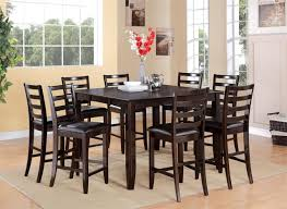 home design attractive square dining room tables for 8 2 bar