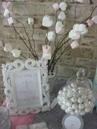 Pink And White Candy Buffet by Silver White And Pale Pink First Communion Party Ideas