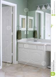 Bathroom With White Cabinets And Trim Stock Photos Image - White cabinets for bathroom