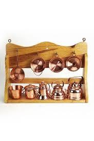 ustensile de cuisine en cuivre coppergarden étagère de cuisine miniature avec ustensiles en cuivre