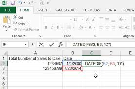 how to find the number of days between two dates in excel 2013