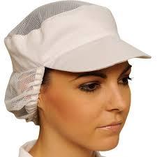 casquette de cuisine casquette agroalimentaire avec filet de protection