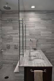 Modern Bathroom Fans Photos Hgtv Modern Bathroom With Stunning Gray Tile Walls Loversiq