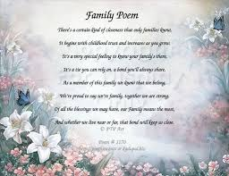 family poem the importance of family