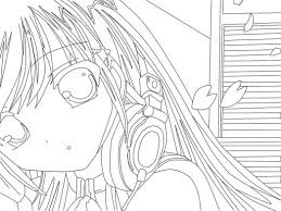 coloring anime coloring page