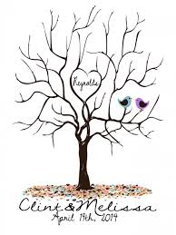 alternative wedding registry large alternative wedding guest registry fingerprint tree