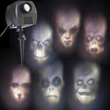 halloween light display projector amazon com halloween outdoor animated skulls projection light home