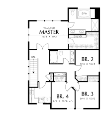 Craftsman Style Homes Floor Plans Craftsman Style House Plan 4 Beds 2 50 Baths 1824 Sq Ft Plan 48 498